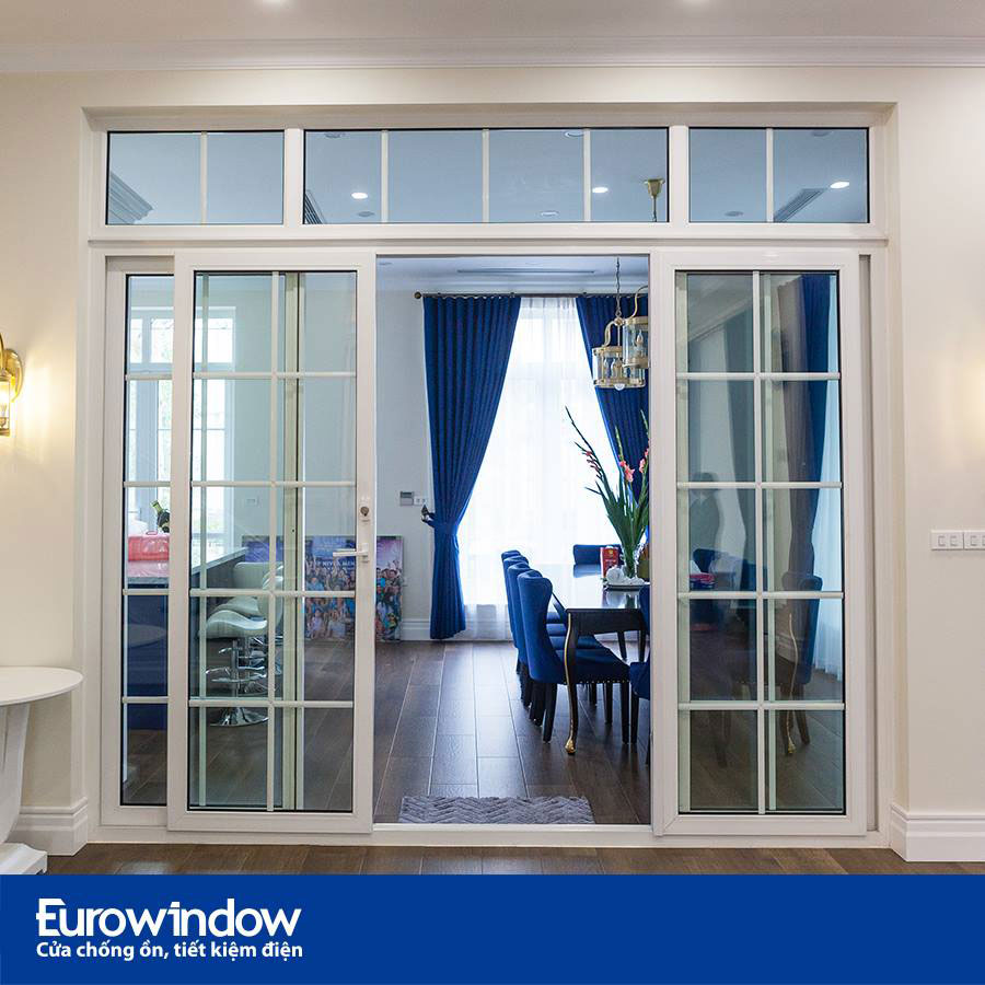 Cửa đi mở trượt - Eurowindow uPVC: