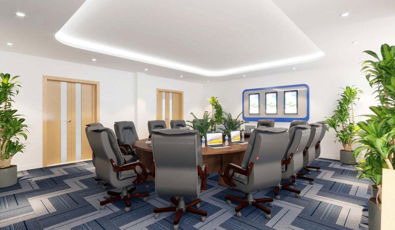 Phòng họp được thiết kế hiện đại và thanh lịch với nội thất Eurowindow